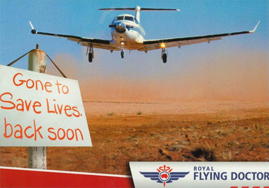 "Royal Flying Doctor Service ""Off to save lives"""